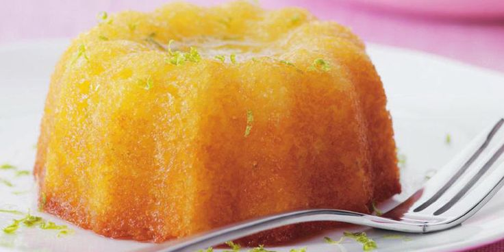 Recipe for Little kaffir lime syrup cakes