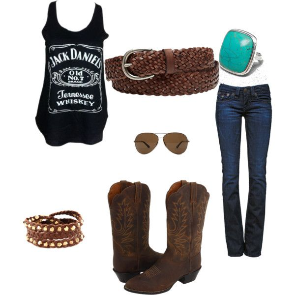 """Summer country outfit"" by geri-fletcher on Polyvore ..don't think I'd do the boots but I ♡ everything else"