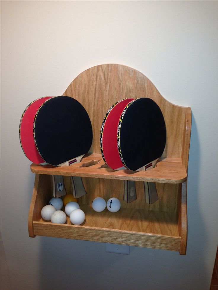Custom Ping Pong Paddle Shelf Stuff Our Dad Builds