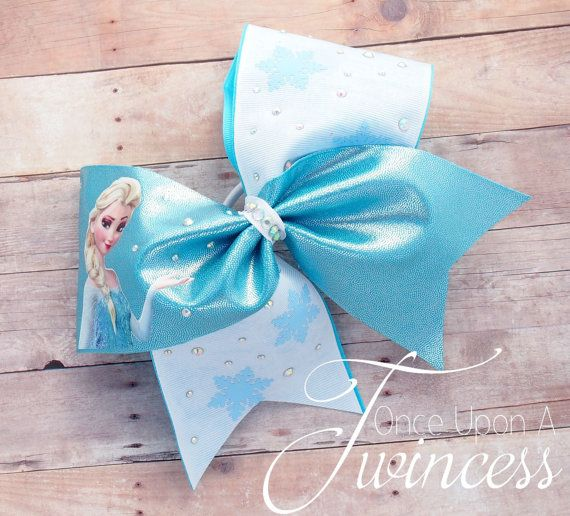 Cheer Bow  Crystal Cheer Bow Winter Cheer Bow by OnceUponATwincess