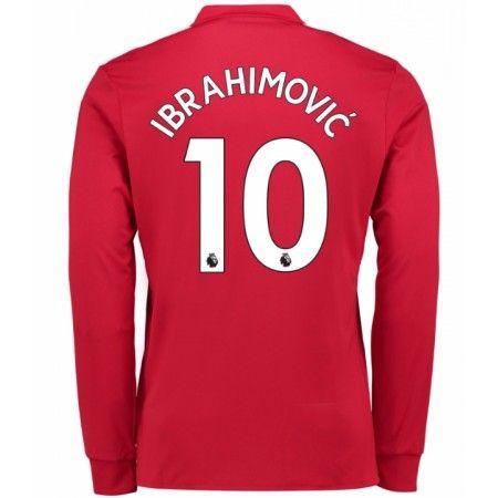 Manchester United Zlatan Ibrahimovic 10 Hjemmebanetrøje 17-18 Lange ærmer