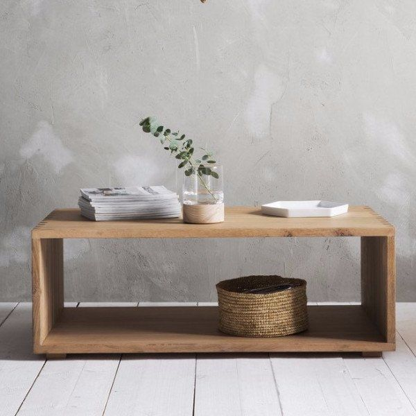 The Hudson Living Kielder Coffee Table has been elegantly designed using clean lines and its light plank finish. The table is constructed using solid oak and features a simplistic design, perfect for making a statement in your living room.
