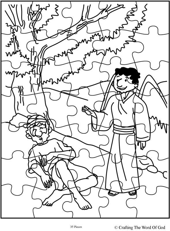 historia del sacrificio de isaac para colorear