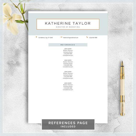 28 best Resume \/ CV Design images on Pinterest Cover letter - references page for resume