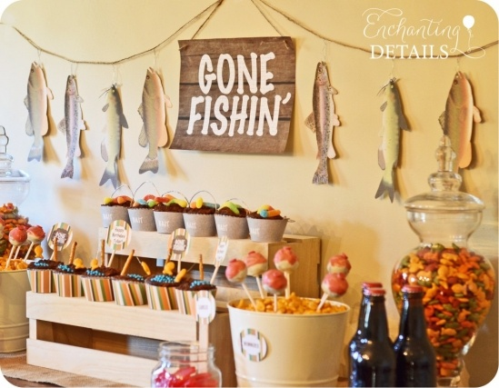 Gone Fishin' Party by Enchanting Details | www.enchantingdetails.com #fishing #party