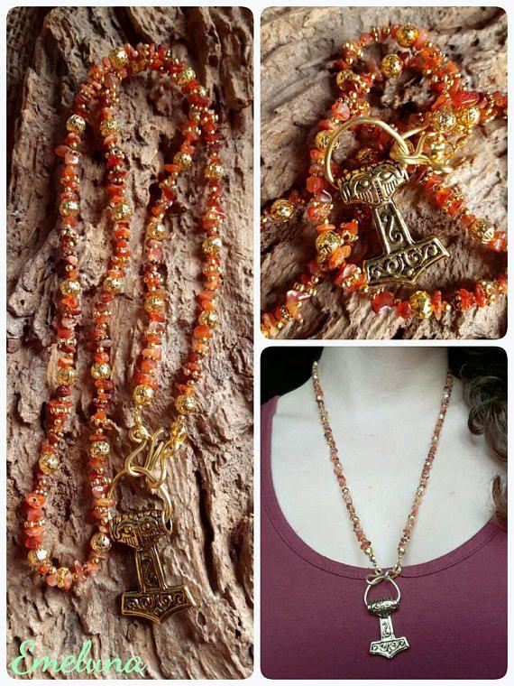 Guarda questo articolo nel mio negozio Etsy https://www.etsy.com/it/listing/496308837/collana-stile-vichingo-necklace-viking