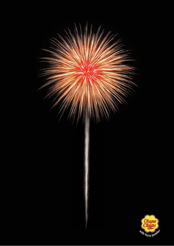 Chupa chups frizzante fireworks creative ads