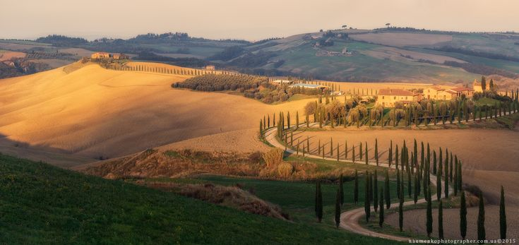 Фотограф Александр Науменко (Aleksandr Naumenko) - Италия. Тоскана. Утро у виллы Agriturismo Baccoleno #1573806. 35PHOTO