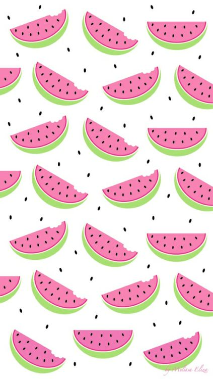 #Watermelon #Pattern / Download more #Fruity #iPhone #Wallpapers and #Backgrounds at @prettywallpaper