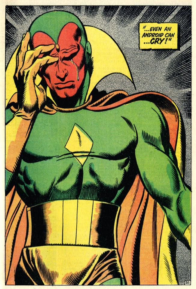 From Avengers #58, The Vision by John Buscema #JohnBuscema ...