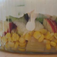 Vegetarischer Schichtsalat mit Lauch | Vegetarian Leek Layer Salad in a Jar #salat #salad #schichtsalat #layer #layered #imglas #weckglas #maisonjar #rezept #recipe #daskochrezept