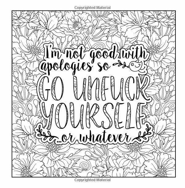 Pin By Valarie Ante On Color Me Sweary Coloring Pages Swear Word