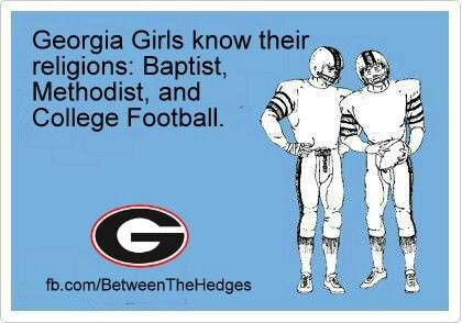 Georgia Bulldog football is a religious experience