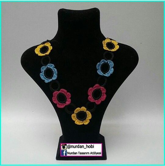 Örgü elişi aksesuar takı kolye örgükolye jewelry necklace crochet knitting hediyelik crochet asil şık alışveriş handmade knitting