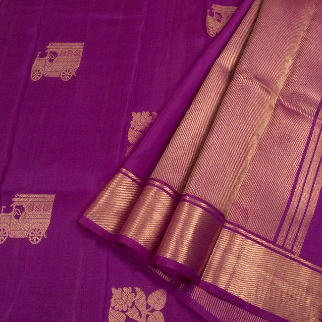 Venkie Reddy Handwoven Kanchipuram Silk Saree with Bavanji Border 10007849 - AVISHYA
