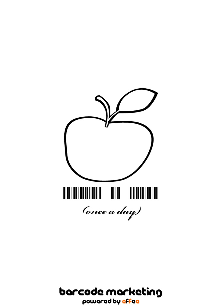"""Barcode """"Once a day"""""""