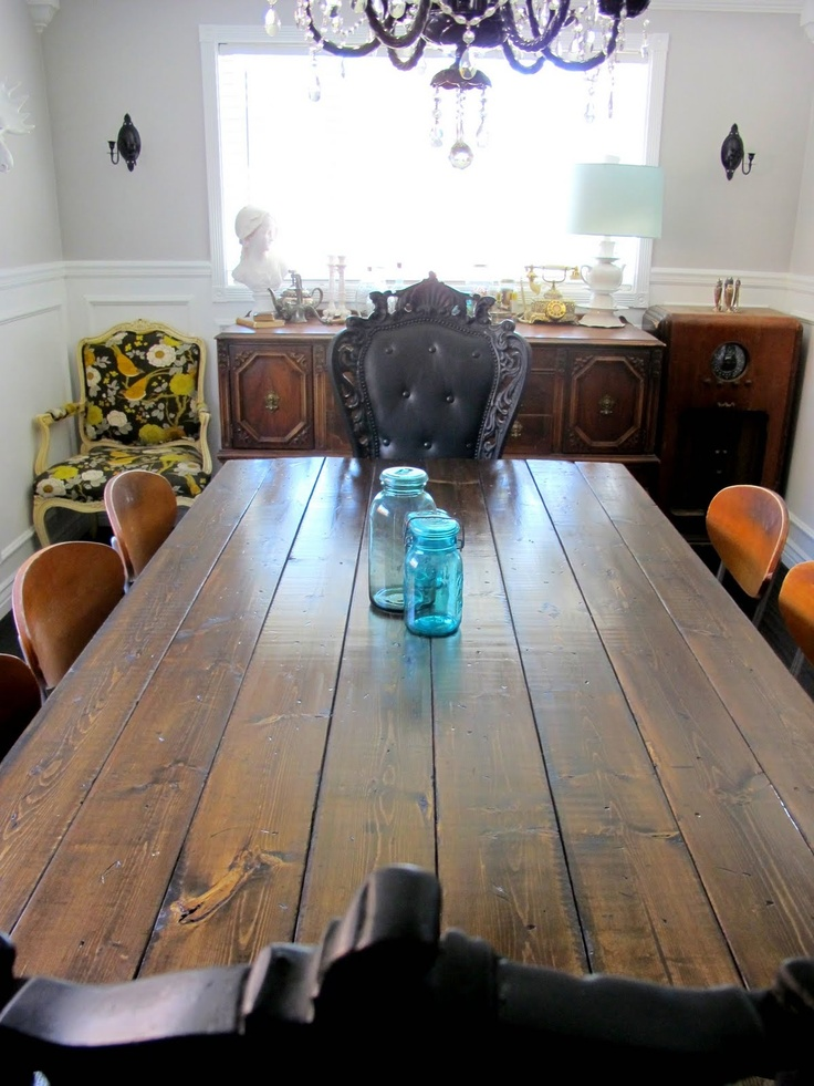 Make your own table top!: Dining Rooms, Dreams Books, Books Design, Turning Dining, Tables Turning, Drafting Tables, Vintage Drafting, Dining Tables, Diy Farmhouse Tables Tops