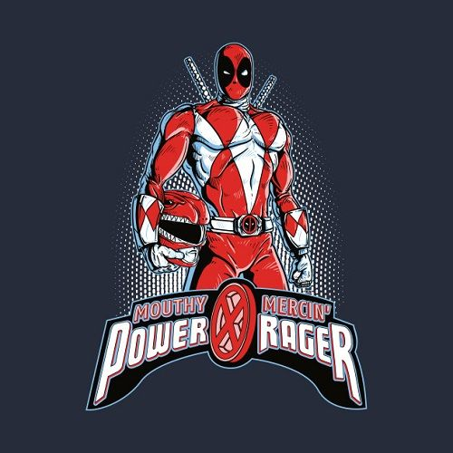 Power Rager T-Shirt by @SilverBaXart   #mightymorphinpowerrangers #powerrangers #rangers #deadpool #marvel #movies #red #ranger #mashup #crossover #wadewilson #movies #film #comicbooks