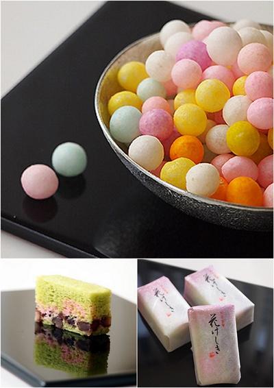 Japanese sweets / おいり(Oiri), 花けしき(Hanakeshiki)