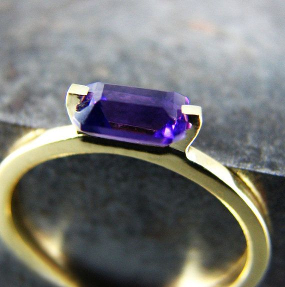 IRIS Amethyst 14K Engagement Ring Amethyst and by UngarMetalArt