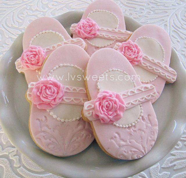 baby girl cookies baby shower cookies shoe cookies sugar cookies baby