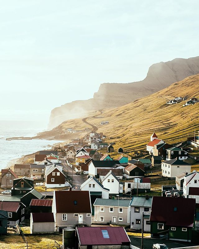 And this will be the nearest town where I drive to buy milk and eggs and we play bridge on Friday nights.  @visitfaroeislands #visitfaroeislands #faroeislands