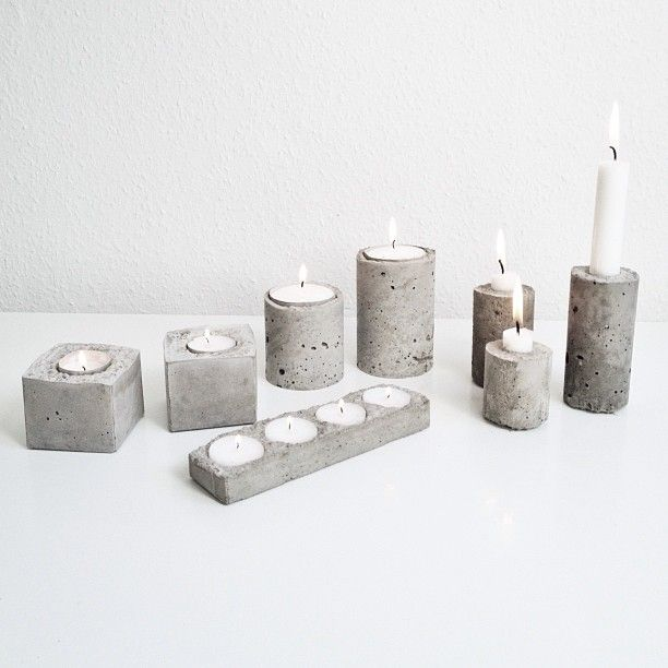 DIY Concrete Candlessticks | HOMESiCK.nu barefootstyling.com