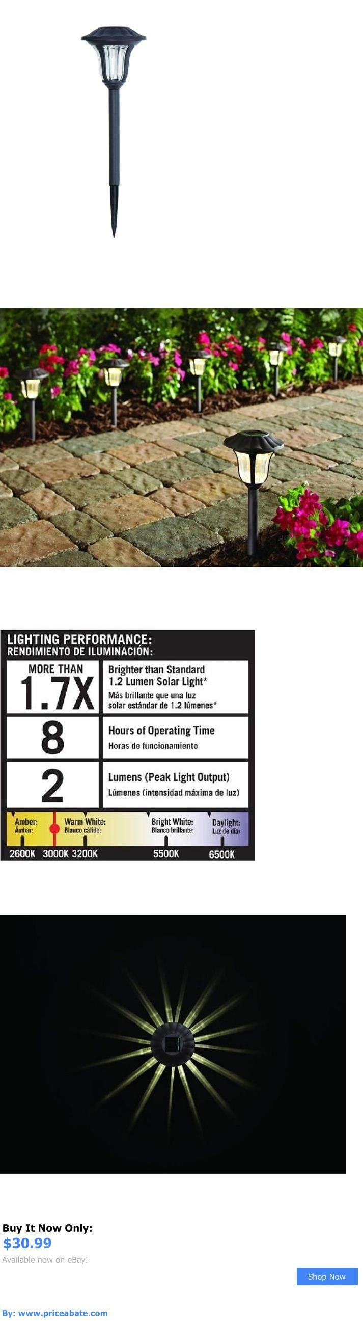 Solar power round recessed deck dock pathway garden led light ebay - Farm And Garden Solar Driveway Lights Led Outdoor Garden Pathway Stakes 6 Pack Set