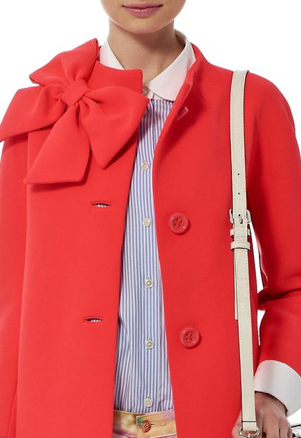 Kate Spade New York Spring 2014 l orange trench with bow