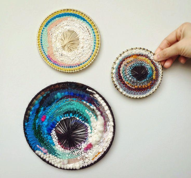 Habit of Art - round weavings!!!
