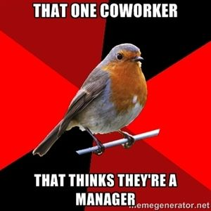that one coworker that thinks they're a manager | Retail Robin @Jacqui Dansereau