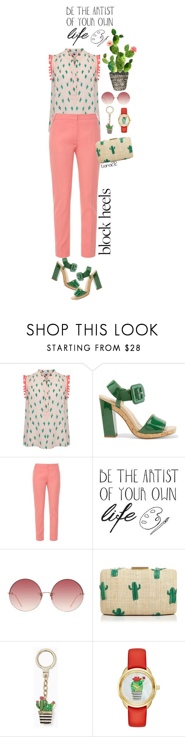 """""""Block heels"""" by tiana212 ❤ liked on Polyvore featuring Mercy Delta, Roger Vivier, Altuzarra, ADZif, Linda Farrow, Kayu and Kate Spade"""