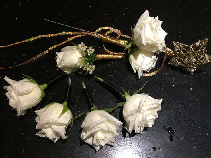 Wand and buttonholes https://m.facebook.com/flowersbylyndagoldcoast/
