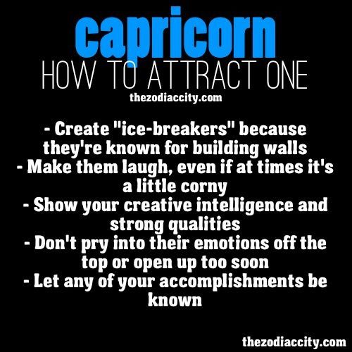 How to get a capricorn man