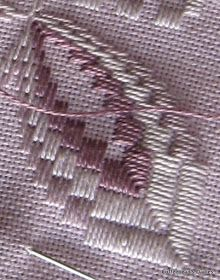 Coffeebean's Dailies: Hardanger Bargello Table Runner Progress...1011