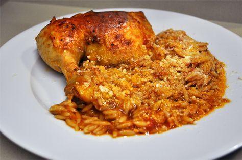 Κοτόπουλο με κριθαράκι στη κατσαρόλα