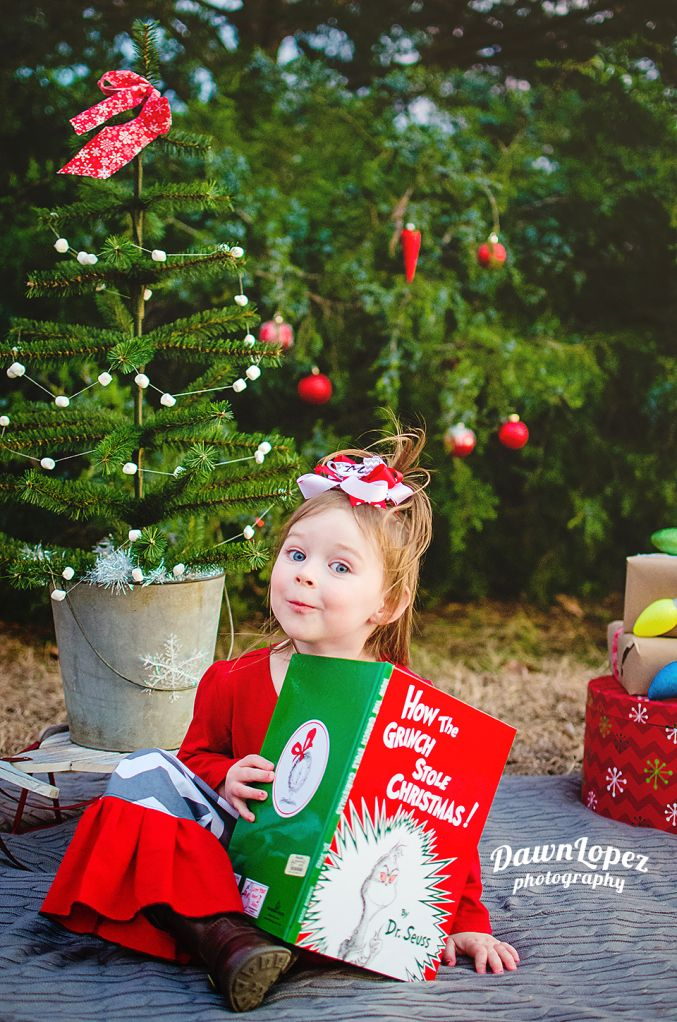How the Grinch Stole Christmas  mini session  Cindy Lu Who  Fort Worth, Texas child photographer Dawn Lopez Photography