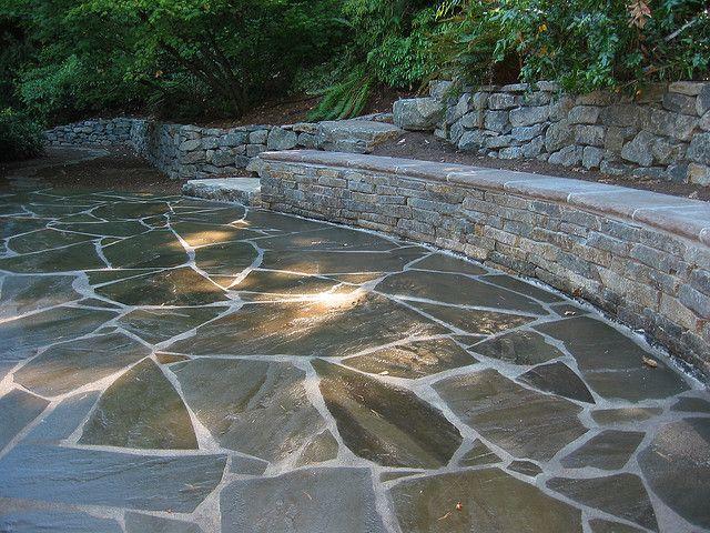 311 best stone patio ideas images on pinterest   patio ideas ... - Stone Patio Wall Ideas