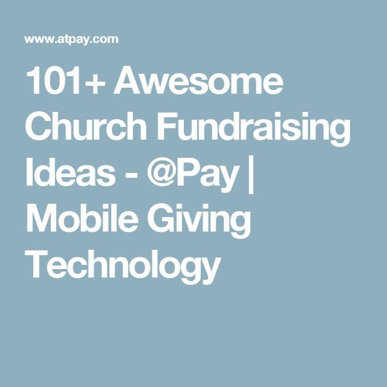 101+ Awesome Church Fundraising Ideas - @Pay | Mobile Giving Technology