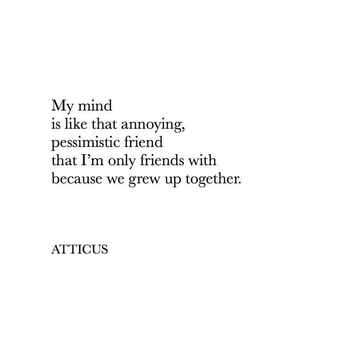 'Mind' #atticuspoetry