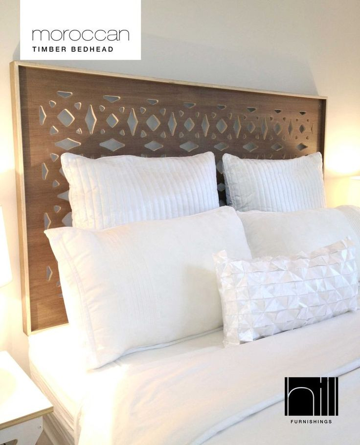 MOROCCAN TIMBER Bedhead / Headboard for Queen Ensemble - COCO #HillFurnishings