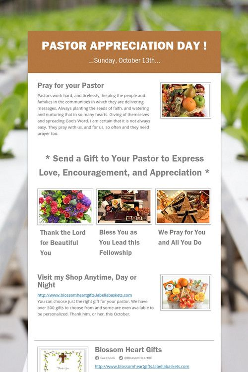 21 best Pastor Appreciation images on Pinterest | Church ...