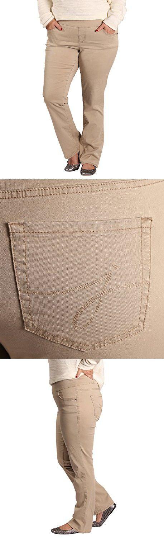 Jag Jeans Women's Plus-Size Peri Pull On Jean, British Khaki, 14W