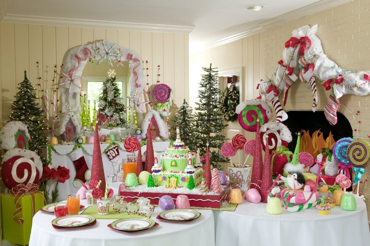 Christmas decorations lost in candy land would love to