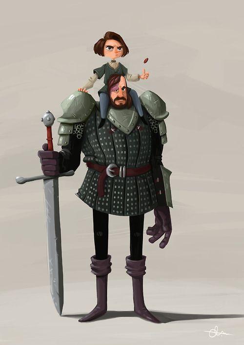 Arya Stark & Clegane The Hound