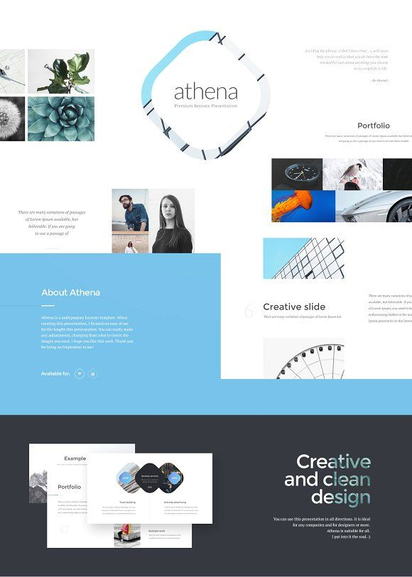 Athena PowerPoint Presentation by Entersge on @creativemarket
