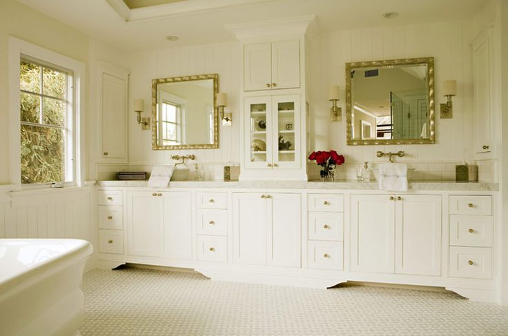 built in vanity bathroom paneled bathroom center vanity