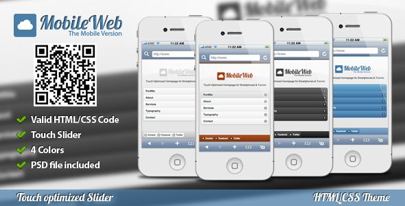 Deals MobileWeb Mobile Theme (Touch Slider) 4 Coloryou will get best price offer lowest prices or diccount coupone