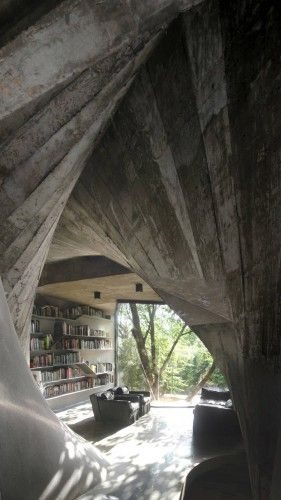 Tea House / Archi-Union Architects--concrete movement!!!
