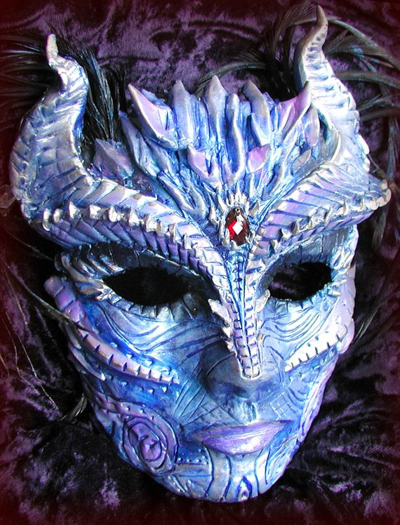 winter mask | Winter Demon Mask om how awesome for the riders to have an annual dragon masquerade ball?!